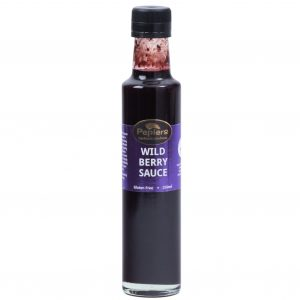 Picture of a bottle of Peplers Wild Berry Sauce